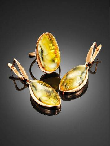 Luminous Amber Cocktail Ring The Lagoon, Ring Size: 8.5 / 18.5, image , picture 4