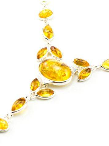 Lemon Amber Necklace In Sterling Silver The Josephine, image , picture 4