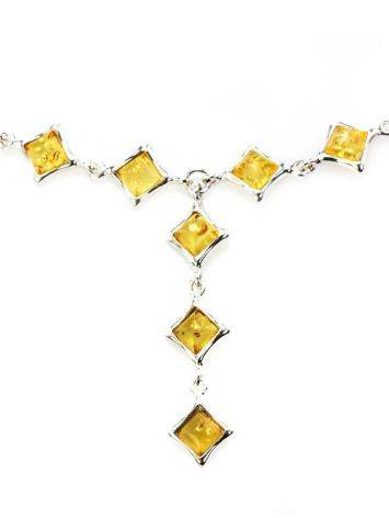Gorgeous Natural Amber Necklace In Sterling Silver, image , picture 4