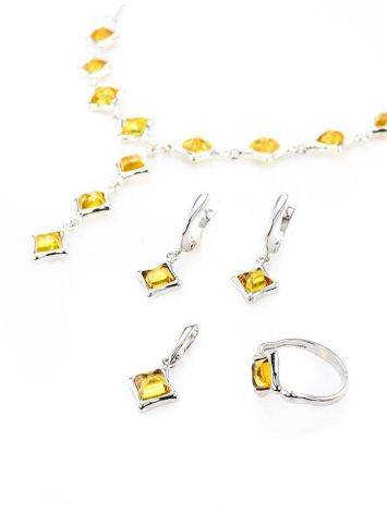Gorgeous Natural Amber Necklace In Sterling Silver, image , picture 6
