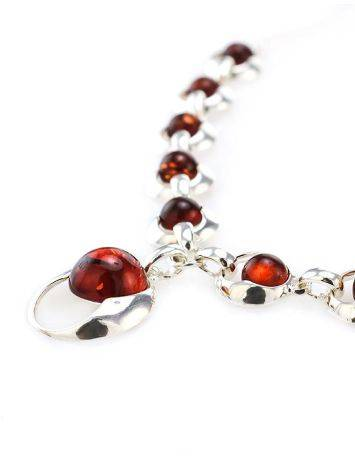 Cognac Amber Necklace In Sterling Silver The Orion, image , picture 4