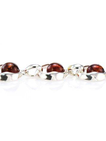 Cognac Amber Necklace In Sterling Silver The Orion, image , picture 5