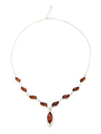 Wonderful Silver Necklace With Cognac Amber The Taurus, image , picture 5
