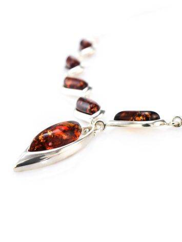 Wonderful Silver Necklace With Cognac Amber The Taurus, image , picture 3