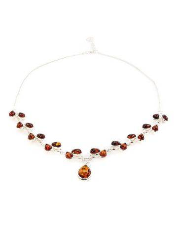 Amber Necklace In Sterling Silver The Lily Of The Valley, image , picture 3