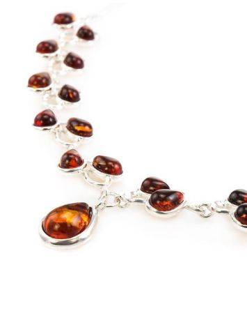 Amber Necklace In Sterling Silver The Lily Of The Valley, image , picture 2