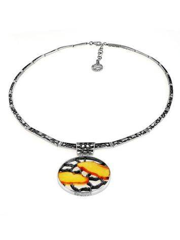 Honey Amber Necklace In Sterling Silver The Lava, image , picture 3