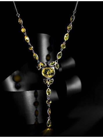 Lemon Amber Necklace In Sterling Silver The Josephine, image , picture 2