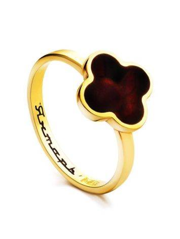 Alhambra Amber Ring In Gold-Plated Silver The Monaco, Ring Size: 8 / 18, image