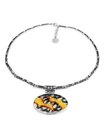 White Amber Necklace In Sterling Silver The Lava, image , picture 3