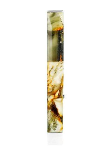 Multicolor Amber Mosaic Tie Bar, image , picture 3