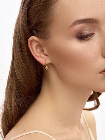 Stylish Gold Plated Silver Earrings, image , picture 3
