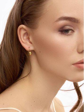 Gold Plated Silver Earrings, image , picture 3