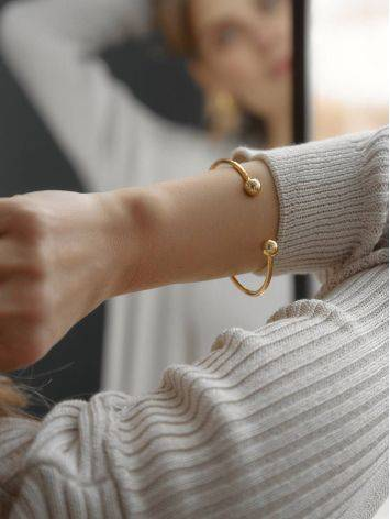 Beautiful Gold-Plated Silver Torque Bangle The ICONIC, image , picture 3
