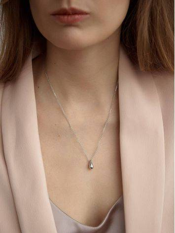 Fabulous Sterling Silver Teardrop Pendant Necklace The Liquid, image , picture 4