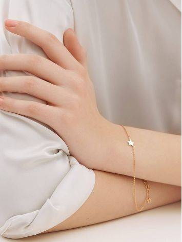 Golden Chain Bracelet With Tiny Stars, image , picture 4
