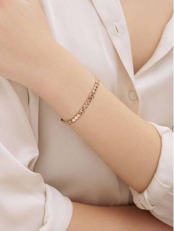 Romantic Style Golden Link Bracelet, image , picture 4