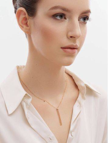 Chic Golden Necklace With Waterfall Chain Pendant, image , picture 3