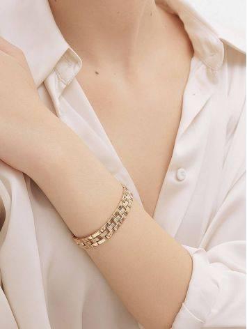 Chunky Golden Link Bracelet, image , picture 4