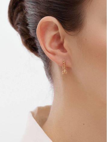 Filigree Loop Golden Earrings, image , picture 3