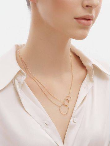 Trendy Geometric Golden Necklace, image , picture 3