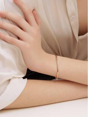 Crystal Encrusted Golden Bangle Bracelet, image , picture 4