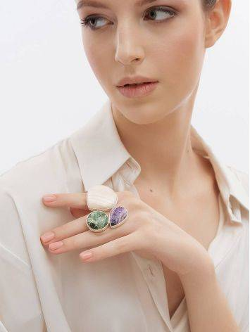 Silver Cocktail Ring With Multicolor Stones Bella Terra, Ring Size: 9 / 19, image , picture 3