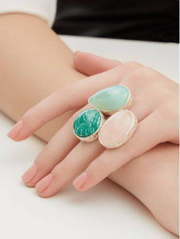 Chic Cocktail Ring With Multicolor Stones Bella Terra, Ring Size: 6.5 / 17, image , picture 5