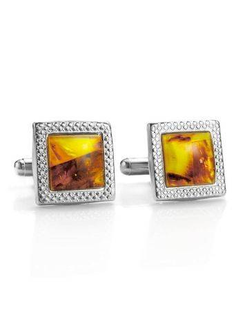 Amber Cufflinks And Tie Bar Set, image , picture 3