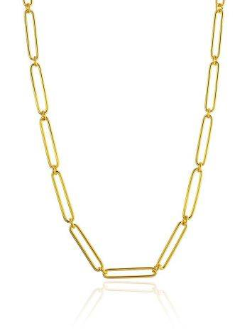Gold Plated Silver Chain Necklace The ICONIC, image