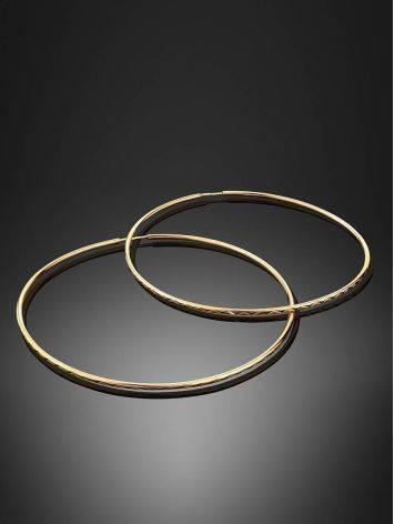 Trendy Golden Hoop Earrings, image , picture 2