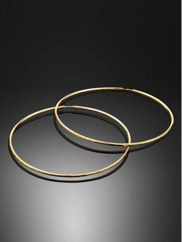 Extra Size Golden Hoop Earrings, image , picture 2