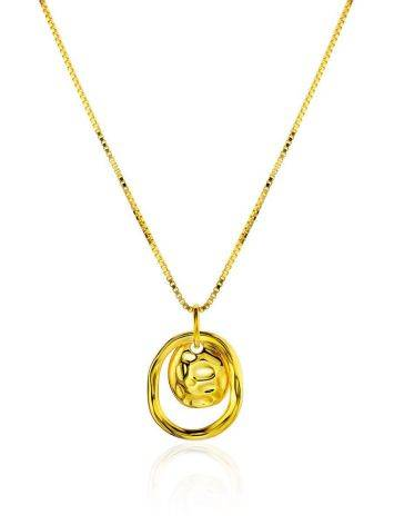 Amazing Gold Plated Silver Necklace The Liquid, image