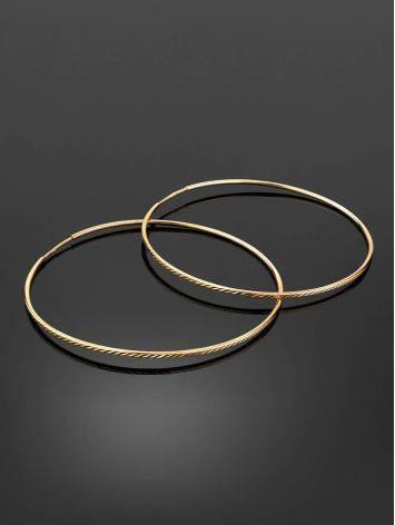 Chic Golden Hoop Earrings, image , picture 2