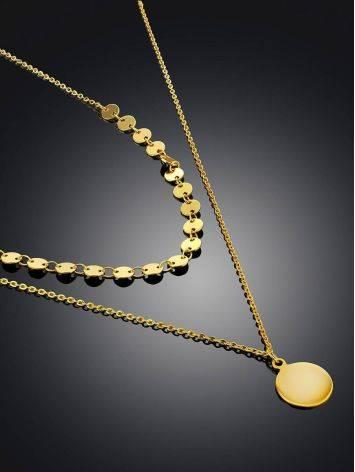 Gilded Silver Multi Strand Necklace  The Liquid, image , picture 3