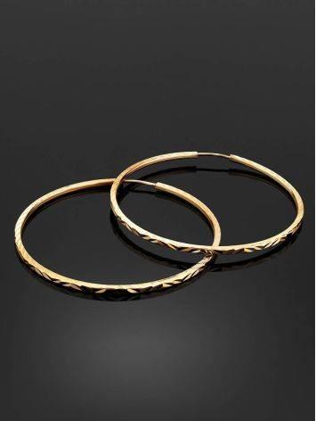 Stylish Golden Hoop Earrings, image , picture 2