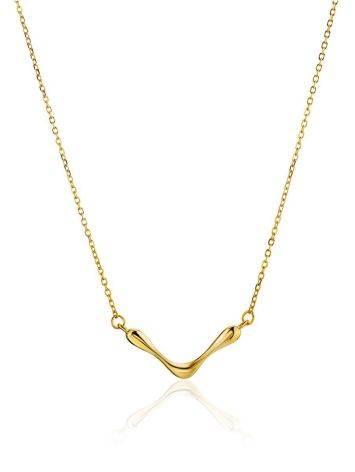 Designer Gilded Silver Necklace The Liquid, image