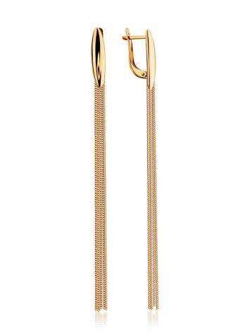 Stylish Golden Chain Earrings, image