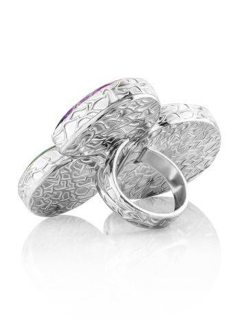 Silver Cocktail Ring With Multicolor Stones Bella Terra, Ring Size: 9 / 19, image , picture 5