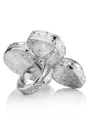 Voluptuous Silver Ring With Natural Stones Bella Terra, Ring Size: 9 / 19, image , picture 6