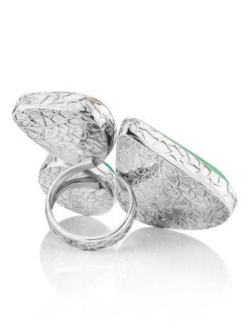 Boho Chic Silver Ring With Multicolor Stones Bella Terra, Ring Size: 9 / 19, image , picture 6