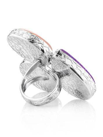 Chic Silver Ring With Multicolor Stones Bella Terra, Ring Size: 9 / 19, image , picture 5
