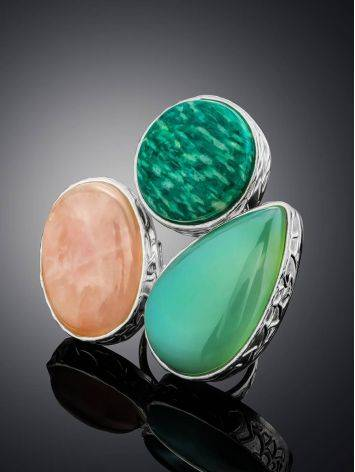 Chic Cocktail Ring With Multicolor Stones Bella Terra, Ring Size: 6.5 / 17, image , picture 2