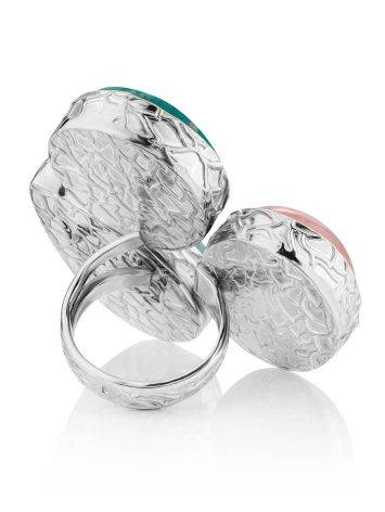 Chic Cocktail Ring With Multicolor Stones Bella Terra, Ring Size: 6.5 / 17, image , picture 4
