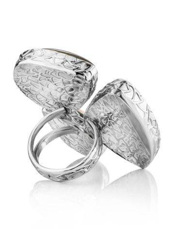 Amazing Silver Cocktail Ring With Multicolor Stones Bella Terra, Ring Size: 9 / 19, image , picture 5