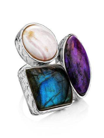 Voluptuous Cocktail Ring With Natural Stones Bella Terra, Ring Size: 6.5 / 17, image
