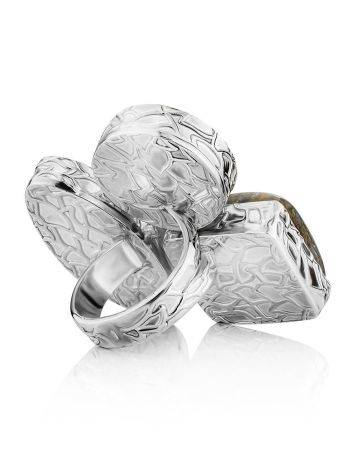 Voluptuous Cocktail Ring With Natural Stones Bella Terra, Ring Size: 6.5 / 17, image , picture 5