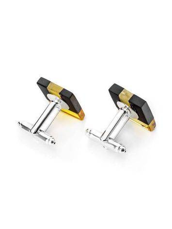 Wooden Cufflinks With Amber The Indonesia, image , picture 3