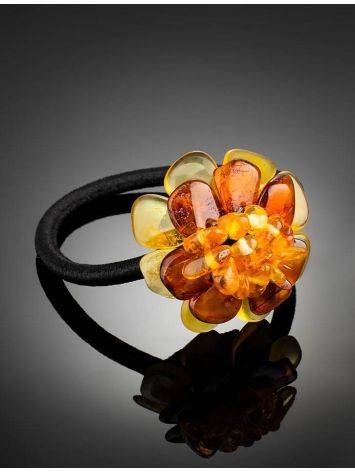 Hair Tie With Natural Amber Flower, image , picture 2