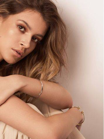 Beautiful Gold-Plated Silver Torque Bangle The ICONIC, image , picture 5